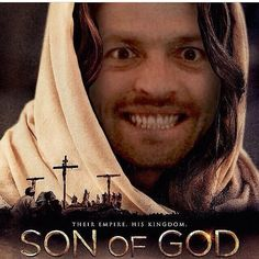 Son of God. Misha Collins Style. Repinning because this made me laugh way hard than it should.