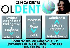 Descuentos en CLINICA DENTAL OLDENT ¡¡¡DALE LA VUELTA AL TICKET!!! del DIA% de C/ Poeta Manuel de Góngora.