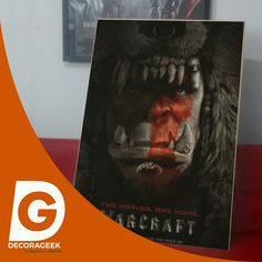 Póster de Cinema Original Warcraft version cinemas de USA. Compralo DecoraGeek.com