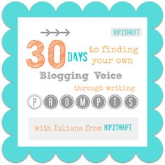 hip2thrift: Day 1 - Describe your Childhood Bedroom - 30 Days to Finding your Blogging Voice