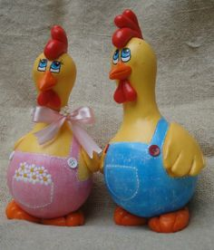 Casal de galinhos