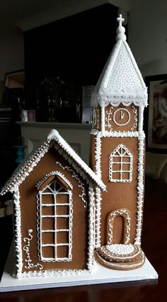 Gingerbread Chapel Chapel Wedding, Artisan Bread, Confectionery, Celebration Cakes, Shortbread, Holiday Ideas, Gingerbread, Wedding Cakes, Touch