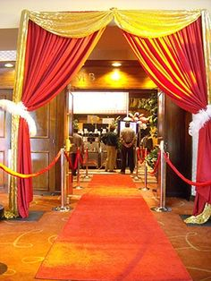 Hollywood theme party red carpet entrance