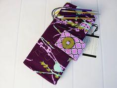 Circular Knitting Needle Case - Needle Storage - Needle Organizer - Knitting Supplies - Joel Dewberry Aviary 2 - Knitting Gift Idea by TalfourdJones on Etsy