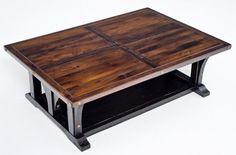 Reclaimed Wood Coffee Table Sunrise Painted