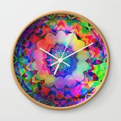 Kaleidoscopic Colors Wall Clock