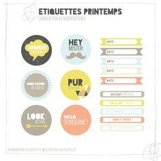 Free Étiquettes {Labels} Printemps