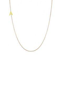 Mini initial necklace