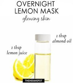 Simply take one tablespoon of lemon juice and mix it with one tablespoon of almond oil or coconut oil. Using cotton, apply it all over your face…