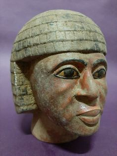 Rare ANCIENT EGYPTIAN ANTIQUES Head Of Nubian King EGYPT LUXOR Stone EGYPT BC Ancient Symbols, Ancient Romans, Ancient Egypt, African American Art, African Art, Egyptian Artwork, Egyptian Hieroglyphs, African Royalty, African Tribes