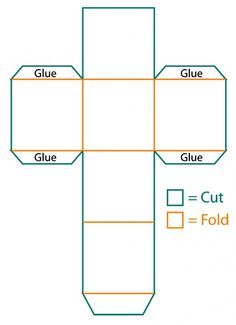 card box template generator - use this cube box to make gift boxes favors decorations