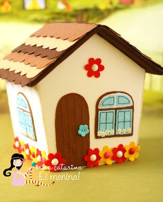 Playhouse by Ei Menina! Diy Quiet Books, Baby Quiet Book, Foam Crafts, Diy And Crafts, Paper Crafts, Felt House, Felt Decorations, Fabric Houses, Christmas Sewing