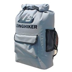 LONGHIKER 20L Waterproof Backpack Dry BagPadded Shoulder Straps  Mesh Side PocketsEasy Access Front PocketSwim Safety Float for Open Water Swimmers Triathletes Kayakers and Snorkelers ** Check this awesome product by going to the link at the image.