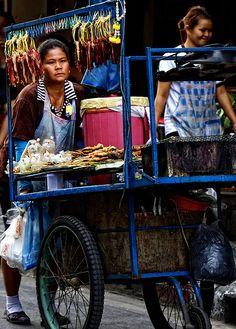 Woman Street Food Vendor.   - Explore the World with Travel Nerd Nici, one Country at a Time. http://TravelNerdNici.com