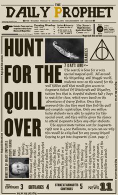 The Daily Prophet Harry Potter Castle, Harry Potter Magic, Harry Potter Pin, Harry Potter Decor, Harry Potter Facts, Harry Potter World, Harry Potter Halloween, Harry Potter Birthday, Harry Potter Newspaper