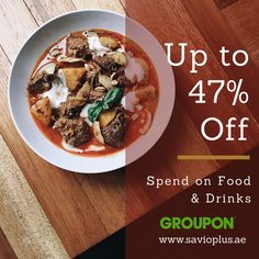 Save Up to 47% ON Food & Drinks  Groupon Special Meal Discount Offer Enjoy the Delicious Food & Save More #SavioPlus