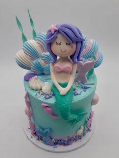 Mermaid cake Art Birthday Cake, Mermaid Birthday Cakes, Mermaid Cakes, Artemis, Cake Ideas, Birthday Parties, Bakery, Treats, Party