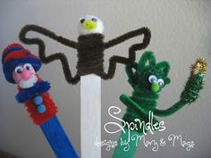 Pipe cleaner 4th of July crafts. www.spindlesdesigns.com #crafts #4thofJuly