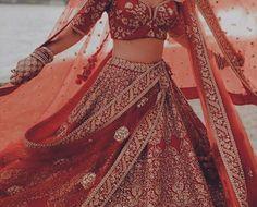 Indian Bridal Outfits, Indian Dresses, Ganesha, Indian Aesthetic, Traditional Indian Wedding, Desi Clothes, Desi Wedding, Brown Girl, Bridal Lehenga