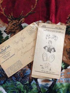 d9e306b35df Vintage 1930s Pattern For Collars Cuffs Chemisettes Mail Order Pattern  Paper Ephemera Art Crafts Pattern #