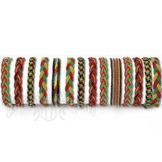 Rasta Fabric Bracelet - Assorted Rasta Designs