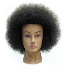 Naomi Afro Cosmetology Mannequin Head 100% Human Hair by Celebrity Manikin to…