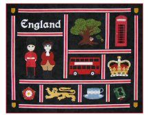England Quilt Printable Note Card