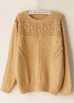 Retro Long Sleeve Knitting Wool Sweaters for Woman