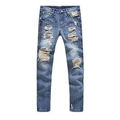 Cheap straight jeans men, Buy Quality stretch mens jeans directly from China men jeans Suppliers: Zipper destroyed jeans hole elasticity jeans high quality straight jeans men ripped stretch men jeans Ripped Jeans Outfit, Ripped Jeans Men, Denim Pants Mens, Casual Jeans, Distressed Skinny Jeans, High Jeans, Denim Jeans, Men Casual, Jeans Pants