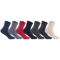 Lian LifeStyle Men's 4 Pairs Knitted Wool Blend Crew Socks LK08 Size Size 6-9 (Black) Combat Boots Socks, Rain Boot Socks, Socks For Flats, Thigh High Tights, Thigh High Socks, Womens Wool Socks, Girls Knee High Socks, Black High Boots, Sport Socks