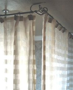 Installedlowres (1024×768) | Bathrroms | Pinterest | Chrome Finish,  Curtain Rods And Corner Curtains