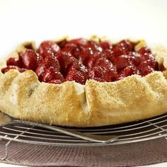 Collect this Roasted Strawberry and Ricotta Tart recipe by Perfect Italiano. MYFOODBOOK.COM.AU | MAKE FREE COOKBOOKS