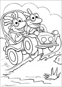 Muppet Babies Coloring Pages Race Car Coloring Pages, Online Coloring Pages, Coloring Pages For Girls, Coloring Book Pages, Printable Coloring Pages, Adult Coloring, Muppet Babies, Animal Muppet, The Muppets