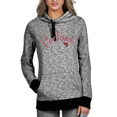 Women's New Orleans Saints Majestic Charcoal Swift Play Pullover Hoodie