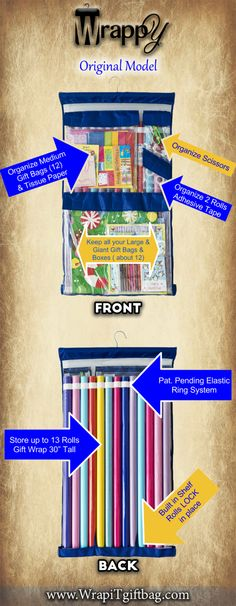 1000 images about hi this is my secret on pinterest for Vertical gift wrap storage