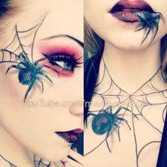 halloween make up Halloween Kostüm, Halloween Cosplay, Halloween Face Makeup, Spider Makeup, Spider Queen, Maquillaje Halloween, Queen Makeup, Theatrical Makeup, Special Effects Makeup