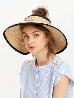 Roll Up Straw Visor Hat - Fashion Women Men Casual Classy Trends Summer Autumn Winter Spring Fall Outfit Monochromatic Outfits With Hats, Stylish Outfits, Fall Outfits, Fashion Outfits, Fashion Women, Fashion Ideas, Women's Fashion, Straw Visor, Visor Hats
