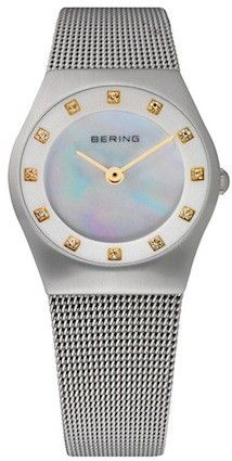 Bering Ladies Silver Dial Mesh Band Classic Watch 11927-004