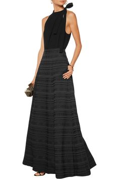 Alice & Olivia - 'Alexia' long black skirt.