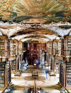 La biblioteca di San Gallo, in Svizzera.