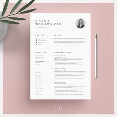 Word Resume & Cover Letter by DemeDesign on Welcome to the DemeDesign! We produce high-quality, professional templates that are unique in creativity and help you to get your dream job. Resume Cover Letter Template, Modern Resume Template, Cv Template, Letter Templates, Resume Templates, Resume Template Download, Resume Layout, Resume Format, Resume Cv