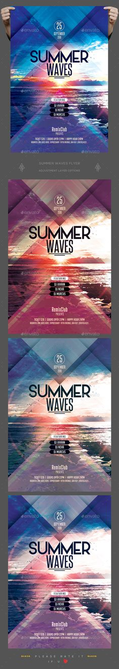 Summer Wave Flyer Template PSD