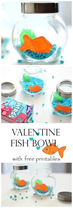 Valentine fish bowl    could put Swedish fish in here
