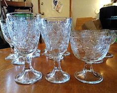 Princess House Fantasia 18pc. Glassware set! Water, Wine, Desert/Sherbet. Excellent Condition!