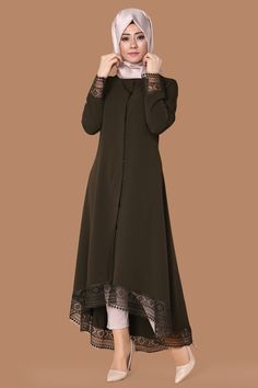 Discover thousands of images about Lazer Kesim Peplum Kap Bordo Ürün kodu: TL Abaya Fashion, Modest Fashion, Indian Fashion, African Fashion, Fashion Dresses, Hijab Style, Hijab Chic, Stylish Dresses, Simple Dresses
