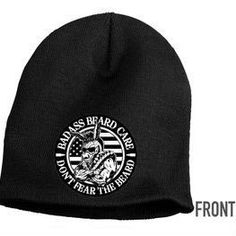 Badass Beard Care - Badass Beanie, $19.99 (https://badassbeardcare.com/badass-beanie/) These Badass thermal beanies have our signature patch sewn to the front and our website embroidered on the back. The quality is amazing, and we think you'll agree!
