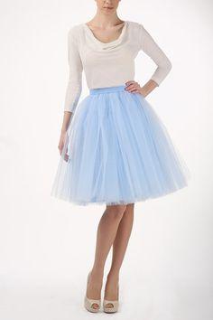 baby blue tutu tulle skirt, petticoat, high quality tutu skirts via Etsy