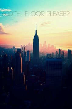 I'm so going to ask for the 600'th floor if I ever visit the empire state building☆
