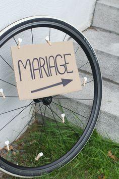 Roue de vélo - annonce mariage