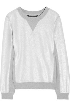 I think I'm falling for Marc...  Marc by Marc Jacobs|Foil-printed cotton-jersey sweatshirt|NET-A-PORTER.COM